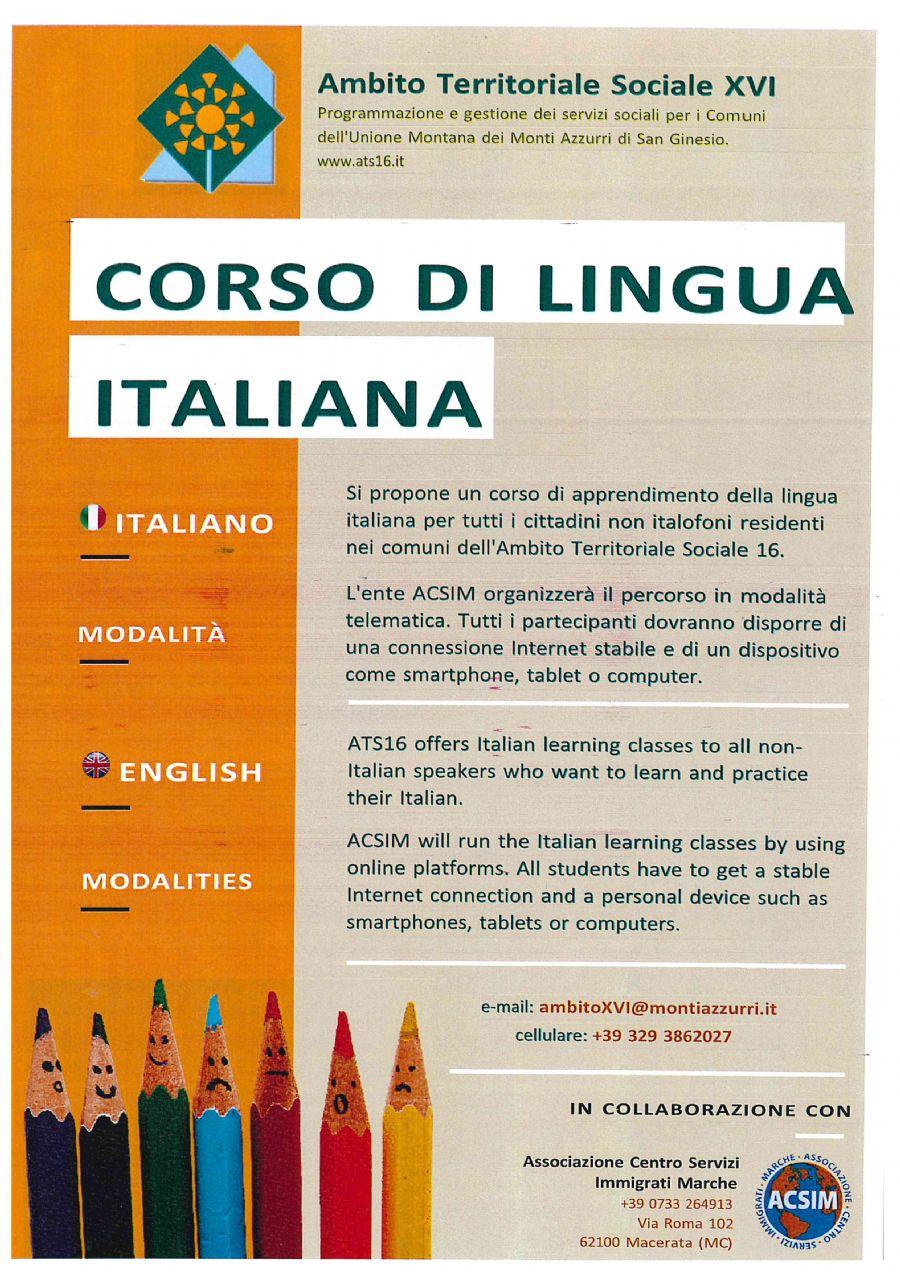 CORSO LINGUA ITALIANA